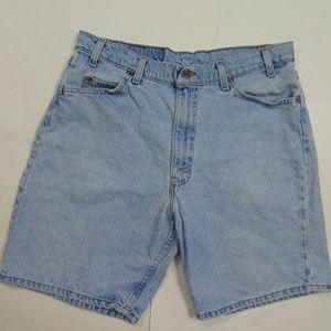 Vintage Levis 550 Men 34 Orange Tab Jean Shorts